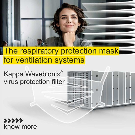 Wavebionix virus protection filters for ventilation systems
