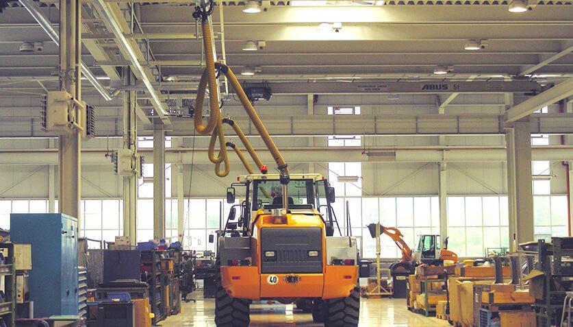 Kappa Abgasabsaugung für Industrie und Werkstätten